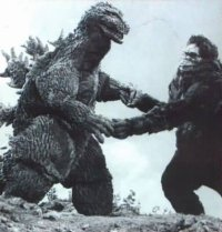 Godzilla y King Kong bailando