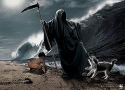 guarda que viene la ola.