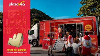 """Premio Effie de Oro Latam para plazaVea por su campaña """"El Truck del Ahorro"""""""